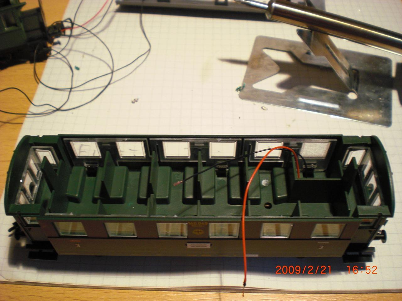 frleischmannnwagen beleuchtung einbauen